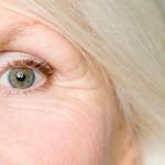 Eye of a senior woman